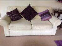 Sofa bed - cream - comfortable as sofa and sofa bed