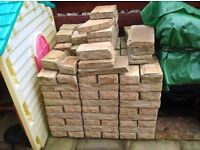 Yorkstone coloured bricks and coping stones