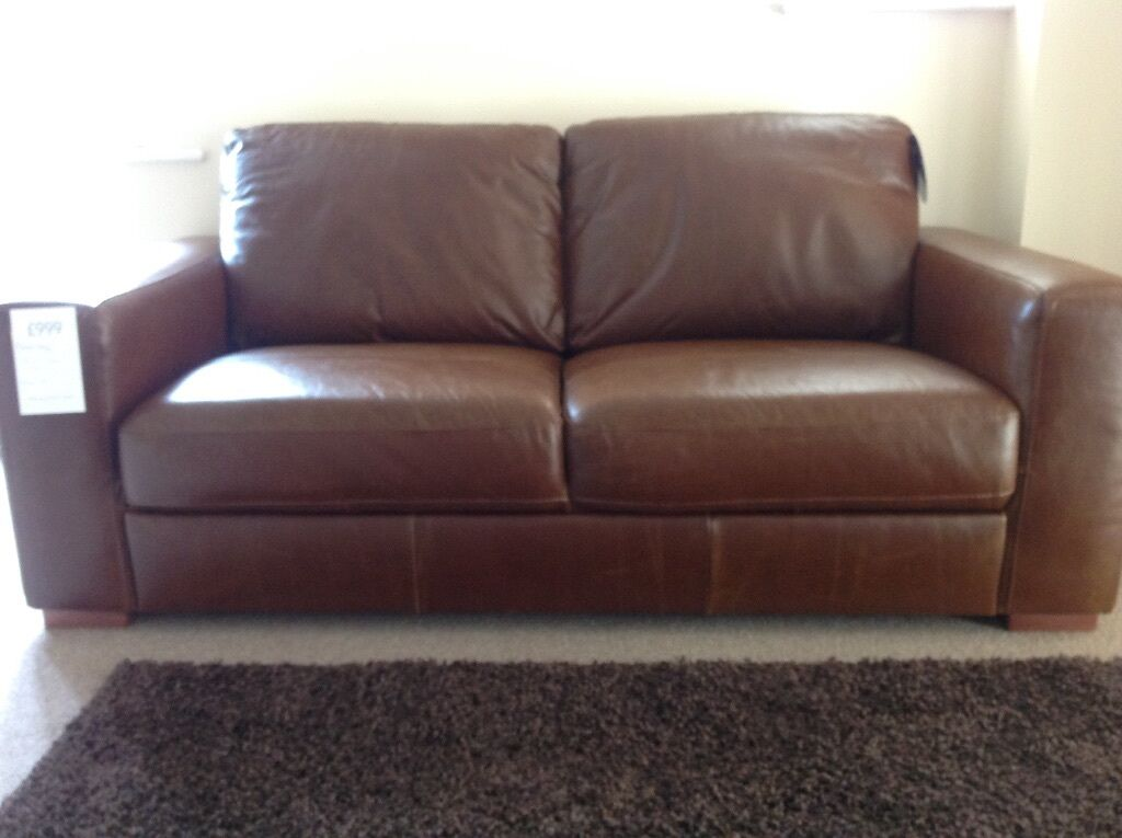 New Leather Next Sofa Armitage Dark Tan Swap For 55 Inch 4k Tv In