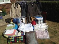 Various items suitable for car boot sale