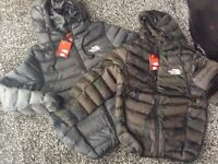 BRAND NEW KIDS NORTHFACE COATS WITH BUILT IN HEADPHONES AGES 7/8, 9/10, 11/12, 13/14 AVA