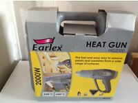 Brand new in box never used. Earlex Heat Gun