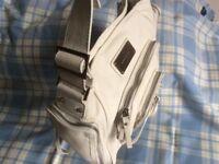 Original KAREN MILAN white LEATHER handbag