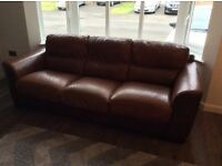 Reid's 3 seater leather sofa