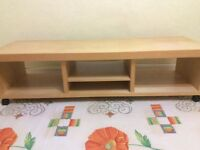 Oak wood TV trolley