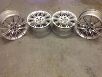 Alloy wheels for BMW.