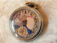 VINTAGE POPEYE USA CHARACTER POCKET WATCH FOR SPARES