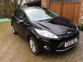 Ford Fiesta Zetec 1.25 Petrol Black, approx 63000 miles as used daily