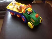Child's Toy Tractor and Trailer.