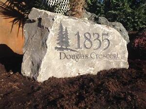 Engraved Address Rocks
