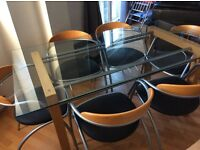 Stunning six seater dining table with chairs