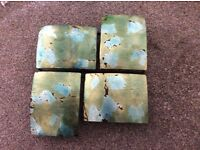 Metal green/blue tortoise shell effect wall picture