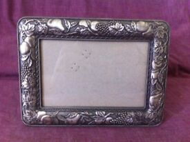 Freestanding Photo Frame in Antique Silver Colour