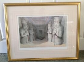 Egyptian picture mounted in gold coloured frame from John lewis