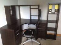 Corner office furniture plus chair