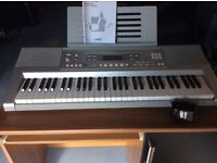 Casio keyboard great sounds and features in box with power cord and Manual.