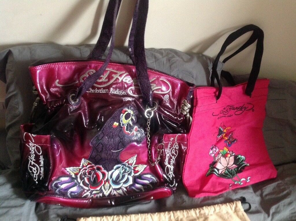 f303a70ff622 ED HARDY by CHRISTIAN AUDIGIER Designer Large Tote bag