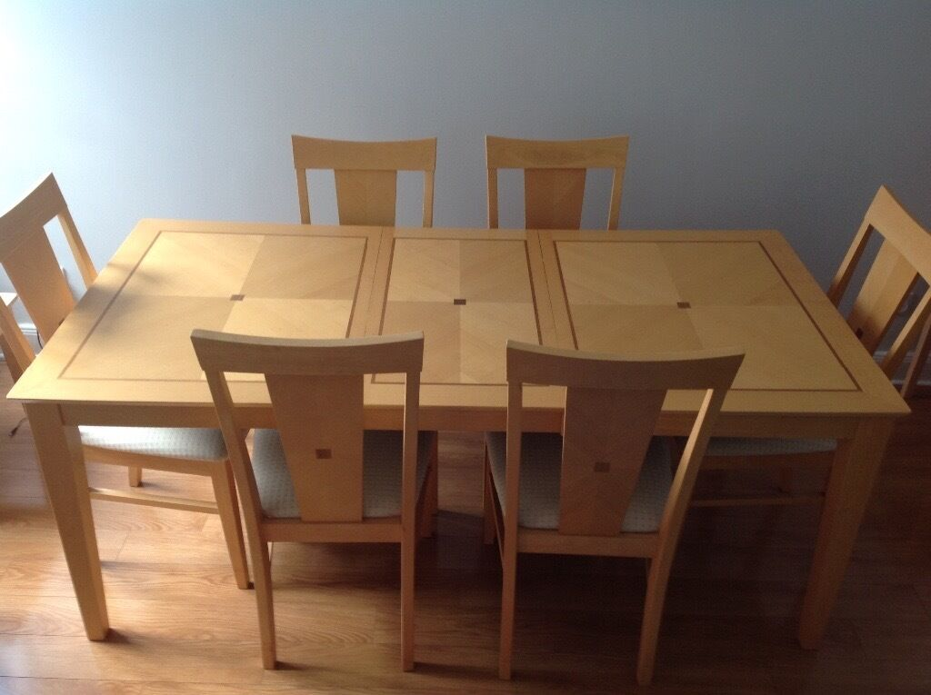 extendable dining table 6 chairs in southside glasgow gumtree