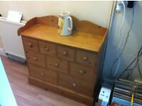 Antique style waxed pine spice cabinet, £75, buyer collects from Carmarthen