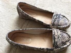 Next 'Forever Comfort' Size 3.5 mock snakeskin flatties