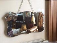 Vintage mirror with chain