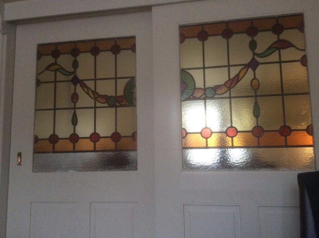 2 X Internal Stained Glass Doors In Ripley Derbyshire Gumtree