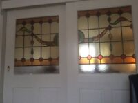 2 X internal stained glass doors