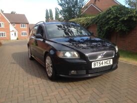 VOLVO V50 T5 2.4 SPORT AUTO 2005 FULL 12 MONTH M.O.T STACKS OF BILLS AND INVOICES ALL HPI CLEAR 2KEY