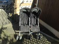 Double buggy mamma&a poppa push chair black nice condition first to buy