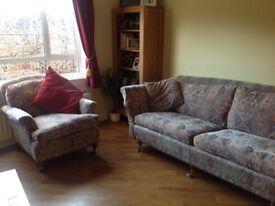Duresta sofa and arm chair