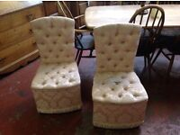 Pair of pretty bedroom chairs