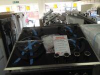 Beko 4 burner gas hob. Black. £175 RRP £329 new/graded 12 month Gtee