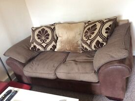 2 seater brown sofa Bristol