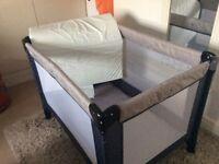 Travel cot and mattress mammas and pappas