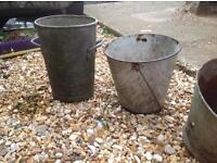 4 metal buckets for sale flowers