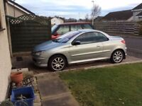 FOR SALE IMMACULATE CONDITION SILVER PEUGEOT 206 CONVERTIBLE