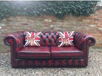 Oxblood Chesterfield Sofa bed. Can deliver