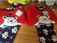 BRAND NEW M and co winter pyjamas sizes 2-3 years and 12-18 months