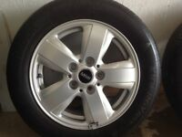 2015/16 Mini Cooper 15 inch Alloy Wheels with Hankook tyres