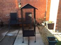 Cage/Aviary for Chinchilla/Cockatoo/Parrot/Finch Bird with Perch Stand and Wheels