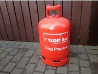 Calor gas bottle with gas