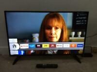 43 INCH BUSH SMART WIFI HDR LED TV HD READY FREEVIEW MODEL DLED43UHDHDRS WITH REMOTE CONTROL