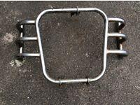 Royal Enfield Bullet panniers and crash bars
