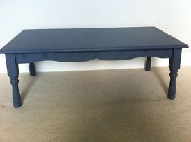 Coffee table painted wood grey