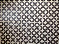 Bertie Black & Ivory Ceramic Tiles (Feature Floors)