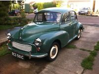 1965 Morris Minor genuine 68000 miles with history - NOW SOLD