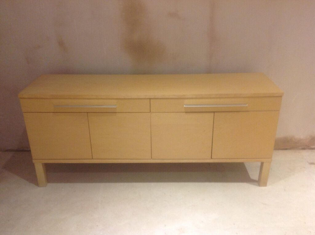 Credenza Industrial Ikea : Ikea sideboard only bjursta birch colour in faringdon