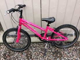 "Dawes Paris Pink Bike, 20"" wheels/11""frame, Approx age 6-8, 6 Shimano gears, Kickstand, Light alloy."