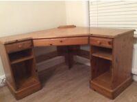 Beautiful solid pine corner desk by ducal