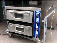 USED PIZZA OVEN 2 DECK CATERING COMMERCIAL CAFE RESTAURANT KITCHEN BAR SHOP